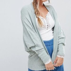 Free People Cardigan Open Front Dolman S NEW